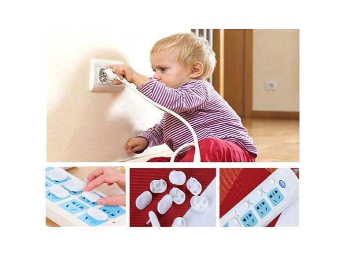 10 Nút bịt ổ điện, Bảo vệ bé yêu tránh khỏi điện giật.