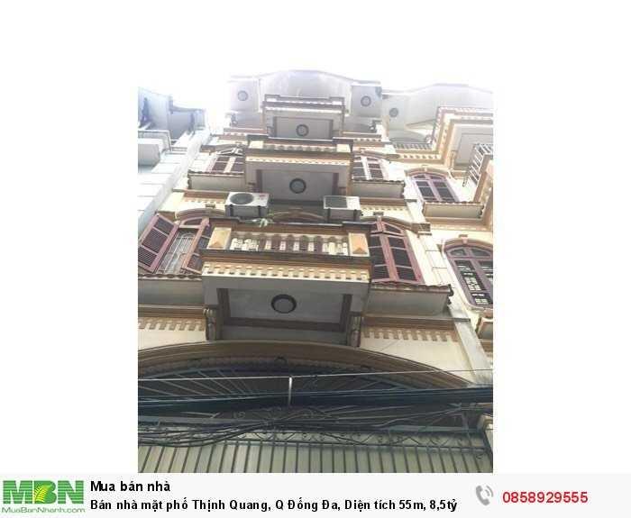 Bán nhà mặt phố Thịnh Quang, Q Đống Đa, Diện tích 55m, 8,5tỷ