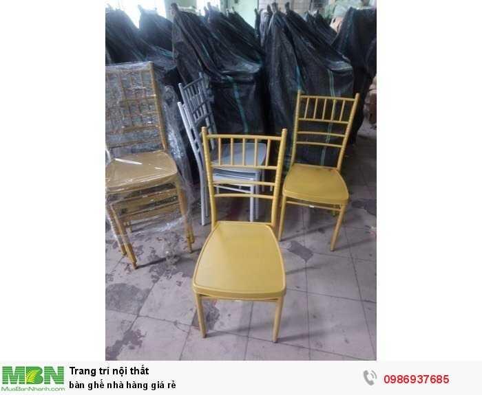 Bàn ghế nhà hàng giá rẻ3