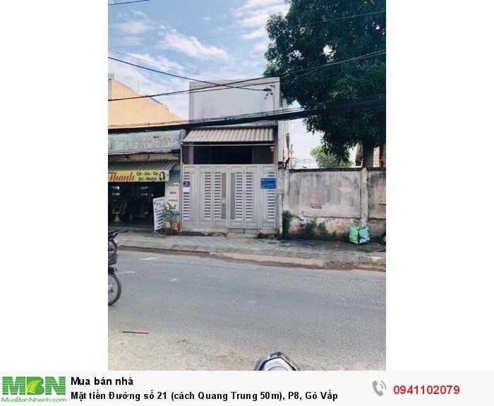 Mặt tiền Đường số 21 (cách Quang Trung 50m), P8, Gò Vấp