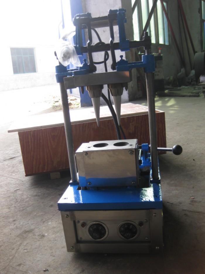 máy làm vỏ kem ốc quế 2 đầu