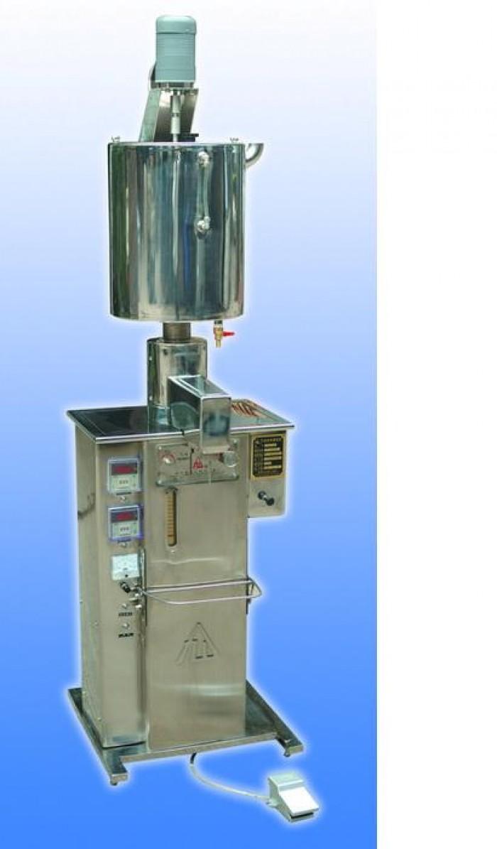 Máy chiết rót mỹ phẩm có trộn và gia nhiệt, máy chiết rót kem dưỡng da, kem body 10-300ml0