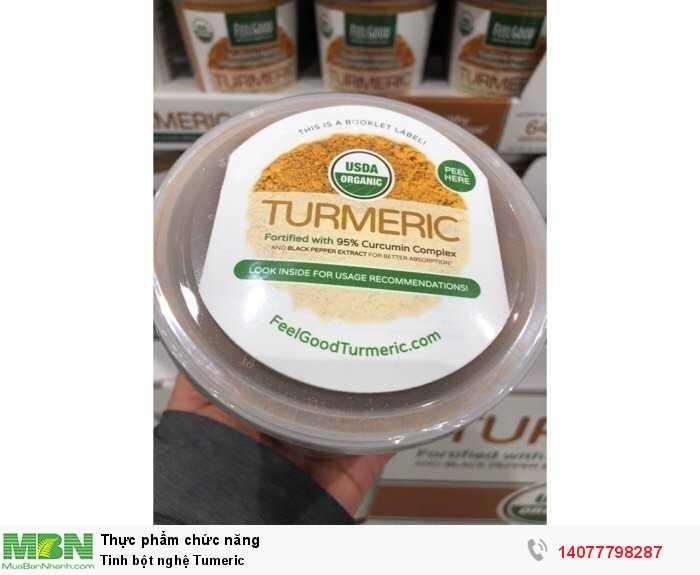 Tinh chất bột nghệ hữu cơ Qrganic FeelGood USDA Qrganic Turmeric Powder của Mỹ4