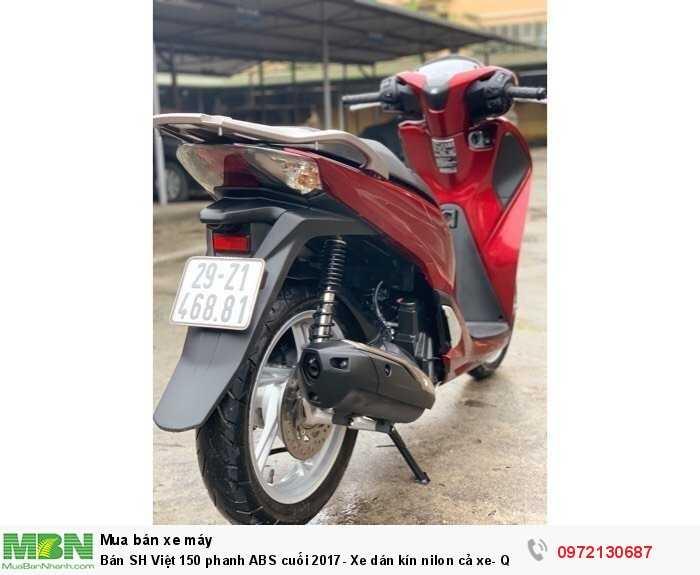 Bán SH Việt 150 phanh ABS cuối 2017- Xe dán kín nilon cả xe- Quá  Mới