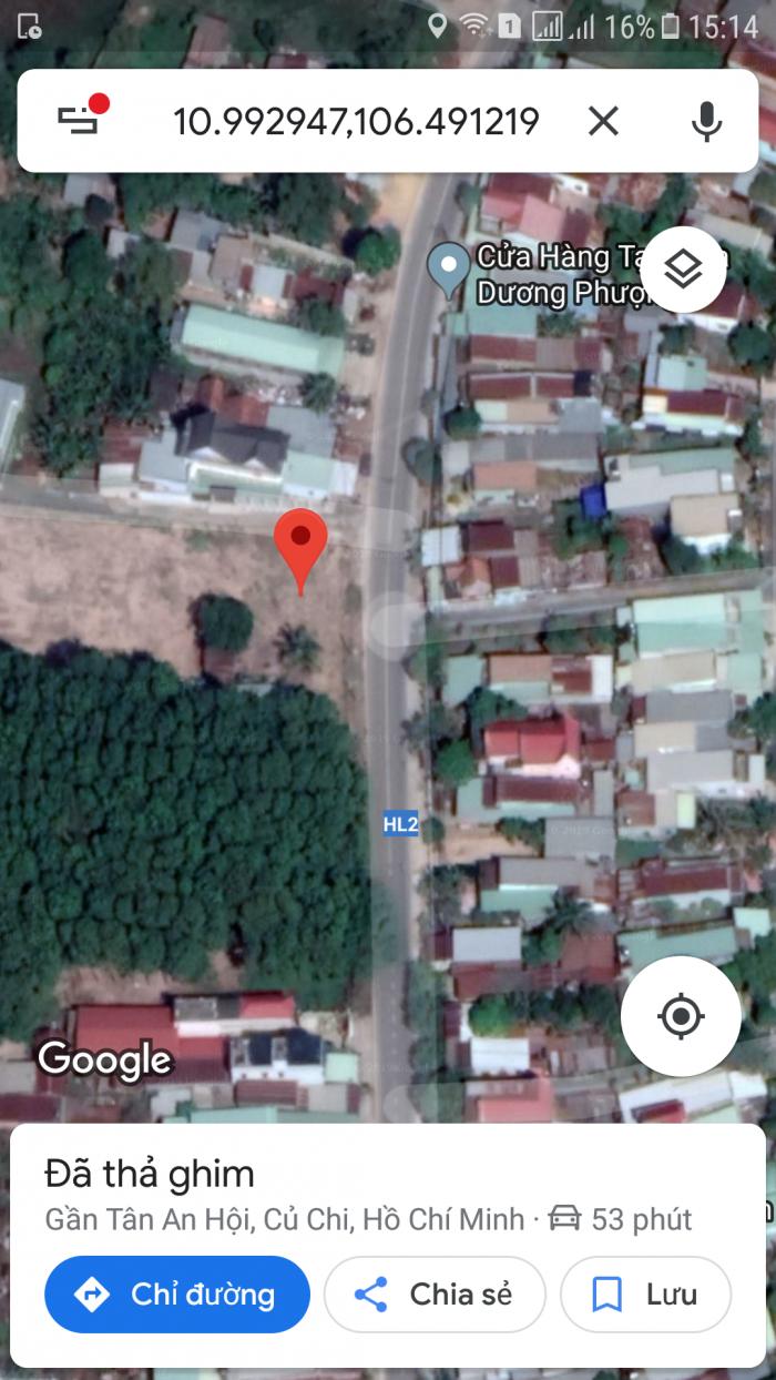 Bán đất mặt đường QL22 cách BV xuyên á 3Km Củ Chi