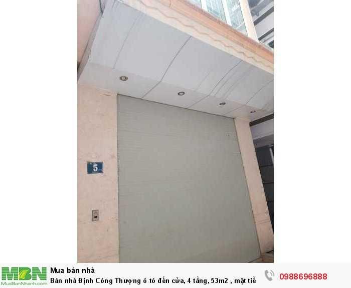 Bán nhà Định Công Thượng ô tô đến cửa, 4 tầng, 53m2 , mặt tiền 4m, giá chỉ 4,05 tỷ.