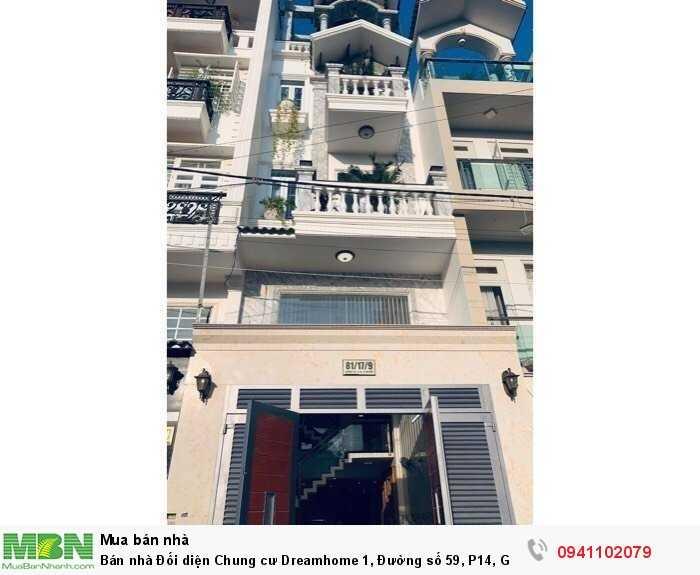 Bán nhà Đối diện Chung cư Dreamhome 1, Đường số 59, P14, Gò Vấp