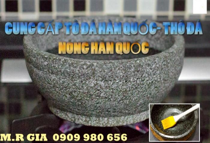 Cung cấp tô đá- thố đá nóng Hàn Quốc 18cm làm cơm trộn bimbimbap Hàn Quốc và phở tô đá nóng Việt Nam.2