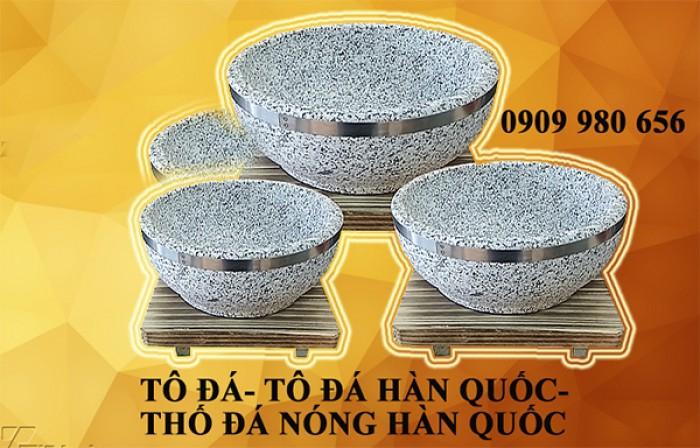 Cung cấp tô đá- thố đá nóng Hàn Quốc 18cm làm cơm trộn bimbimbap Hàn Quốc và phở tô đá nóng Việt Nam.1