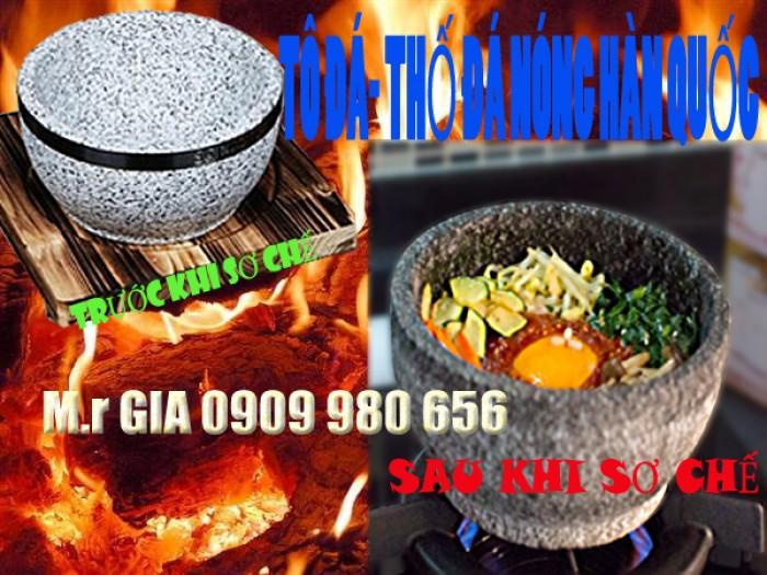 Cung cấp tô đá- thố đá nóng Hàn Quốc 18cm làm cơm trộn bimbimbap Hàn Quốc và phở tô đá nóng Việt Nam.0