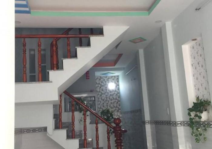Bán nhà 2 lầu mới xây đẹp, tiện KD tại nhà, đường thông 8m