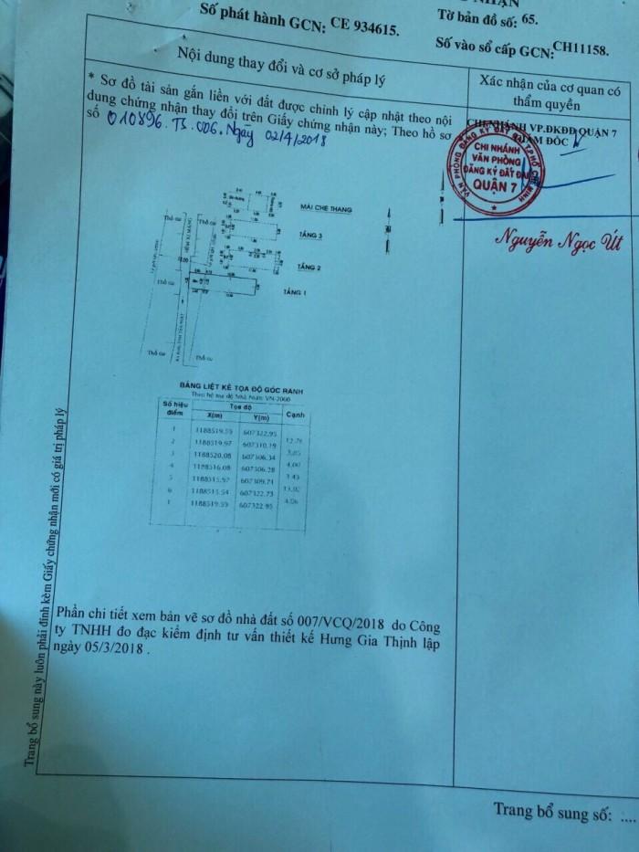 Bán nhà hẻm 487/47 Huỳnh Tấn Phát, DT 4x17m