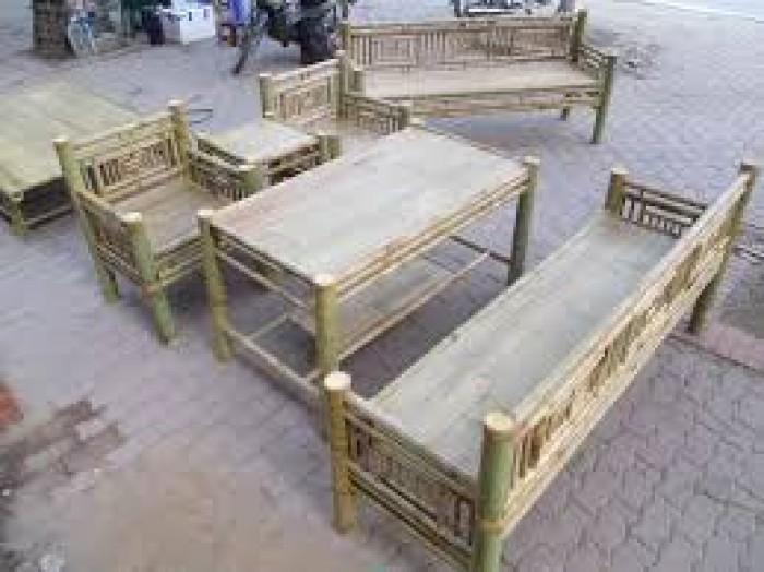 Cho thuê bàn ghế tre