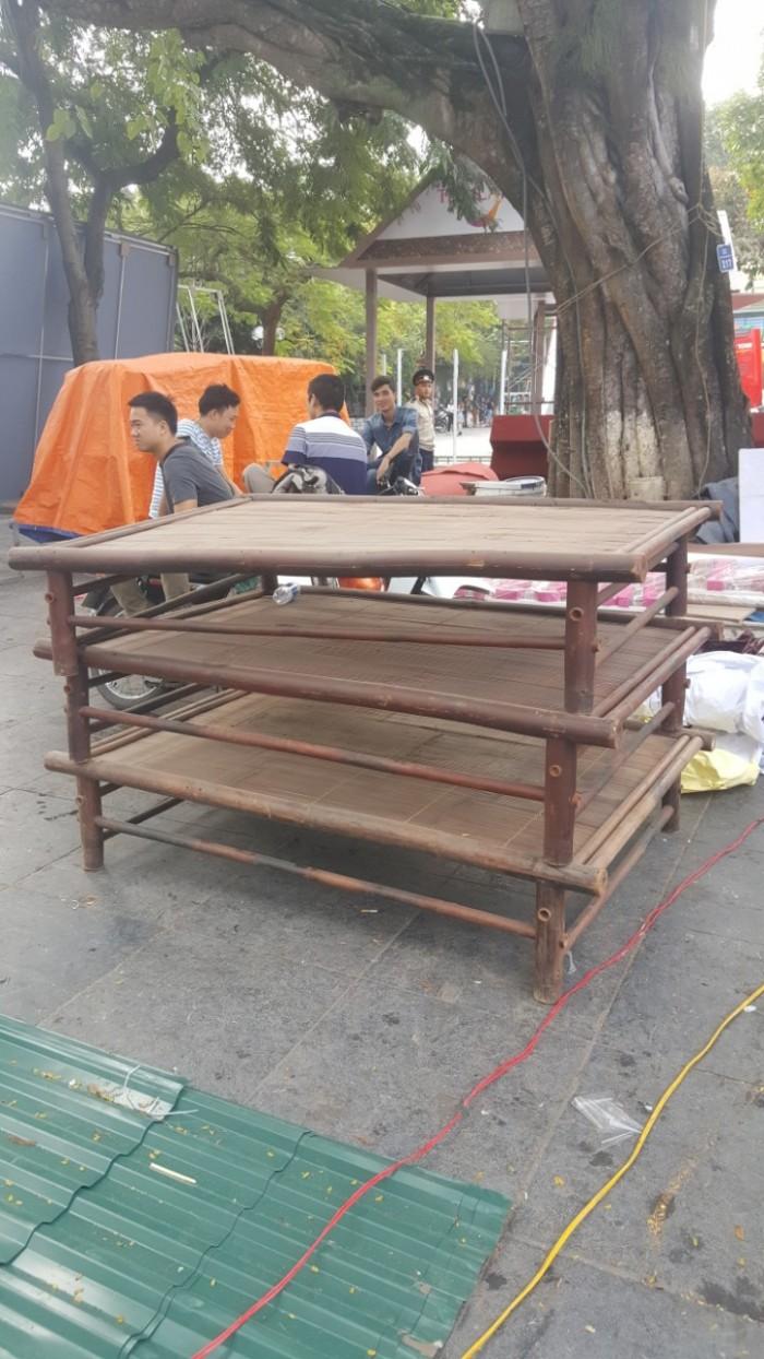 Cho thuê bàn ghế tre - Thân Thiện Phát