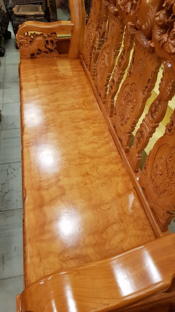 Bộ bàn ghế tay 14 chạm đào mặt nguyên tấm13
