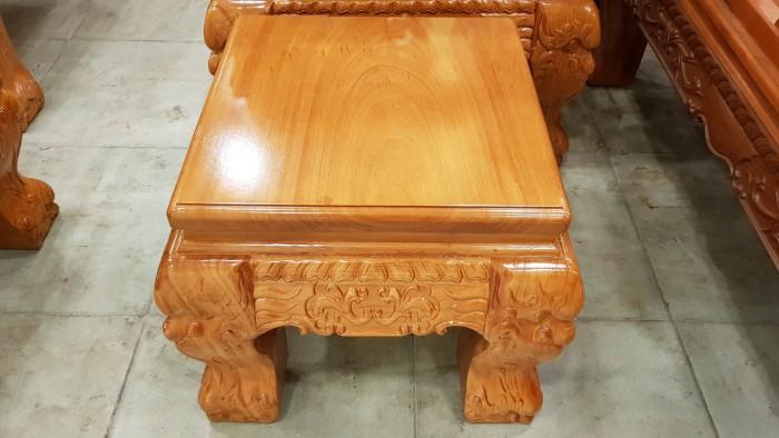 Bộ bàn ghế tay 14 chạm đào mặt nguyên tấm12