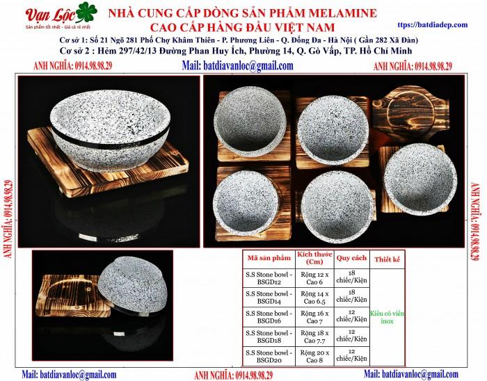 Bán Bát tô thố đá Hàn Quốc có viền inox5
