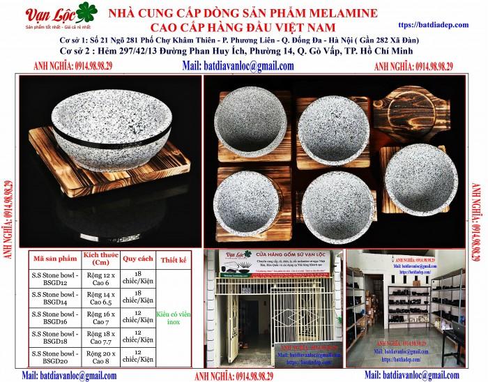 Bán Bát tô thố đá Hàn Quốc có viền inox4
