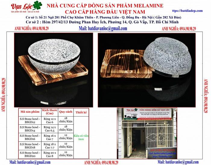 Bán Bát tô thố đá Hàn Quốc có viền inox1