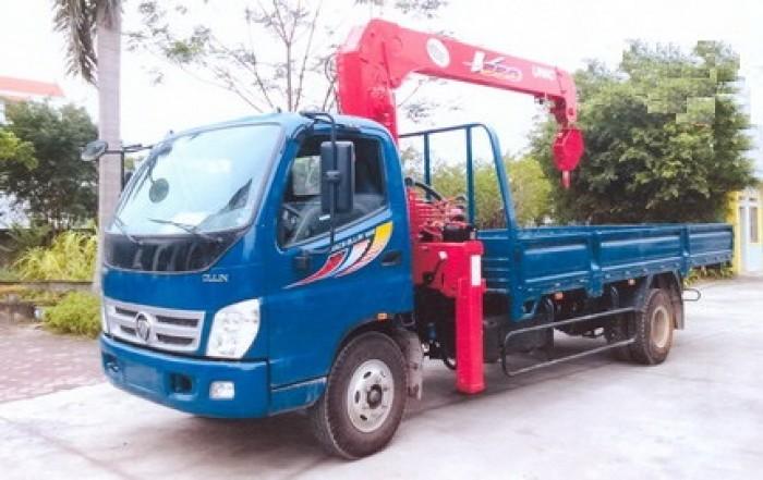 Xe tải 7 tấn Thaco OLLIN 700B gắn cẩu 5 tấn UNIC model URV553 ( 5 tấn 3 đốt ) giá khuyến mại khủng 1