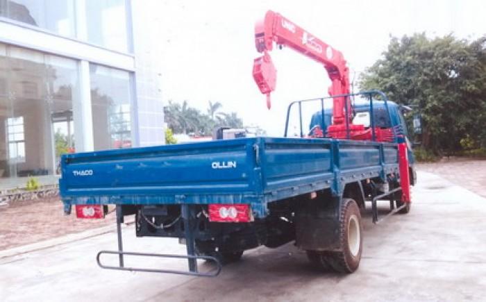 Xe tải 7 tấn Thaco OLLIN 700B gắn cẩu 5 tấn UNIC model URV553 ( 5 tấn 3 đốt ) giá khuyến mại khủng 0