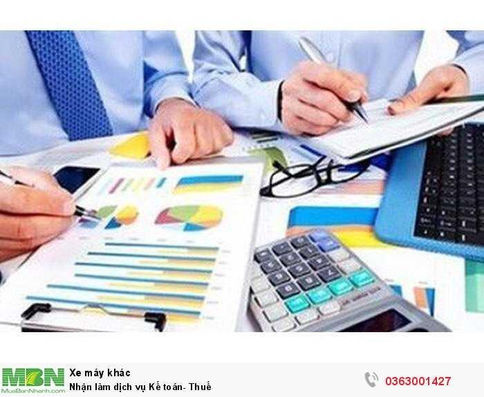 Nhận làm dịch vụ Kế toán- Thuế