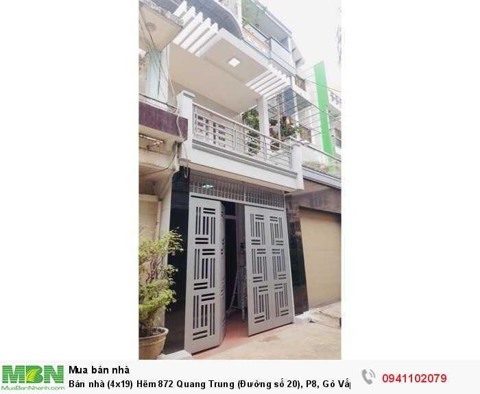Bán nhà (4x19) Hẽm 872 Quang Trung (Đường số 20), P8, Gò Vấp