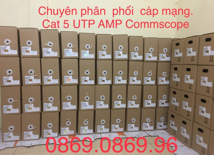 Cáp mạng Cat 5E AMP Commscope - Mã SP: 6-219590-2