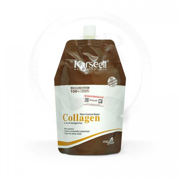 Kem Hấp Dầu Collagen Karseell Maca Power Siêu Mềm Mượt Ý 500ml0