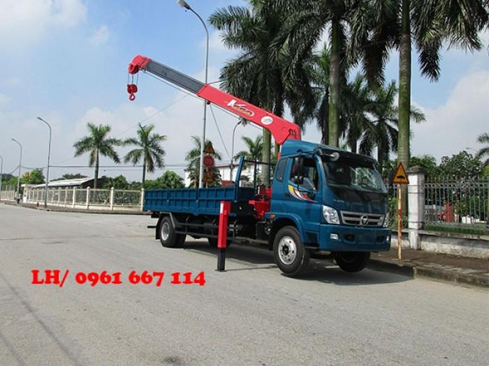 Xe tải 9.5 tấn Thaco OLLIN 950A gắn cẩu 5 tấn UNIC model URV555 ( 5 tấn 5 đốt ) giá khuyến mại khủng 1