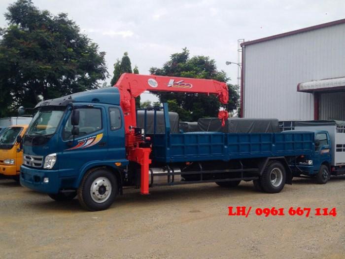 Xe tải 9.5 tấn Thaco OLLIN 950A gắn cẩu 5 tấn UNIC model URV555 ( 5 tấn 5 đốt ) giá khuyến mại khủng 0