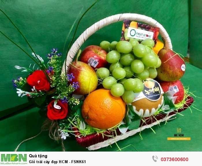 Đặt Giỏ trái cây đẹp HCM - FSNK613