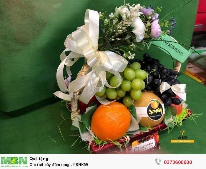 Đặt giỏ trái cây đám tang cùng MKnow1