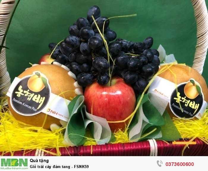 Giỏ trái cây tang lễ - giỏ trái cây chia buồn4