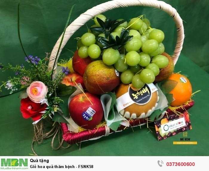 Giỏ trái cây thăm bệnh, giỏ hoa quả thăm bệnh giá rẻ2