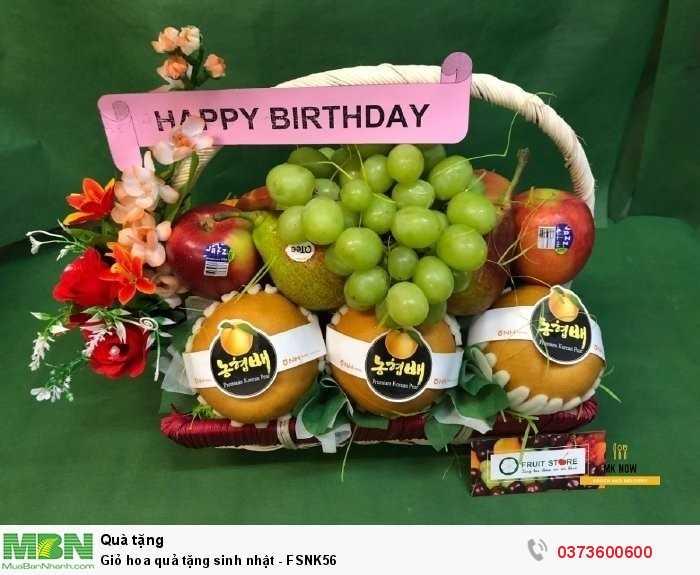 Giỏ trái cây tặng sinh nhật