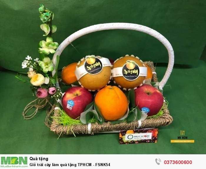 Giỏ trái cây làm quà tặng TPHCM - FSNK540