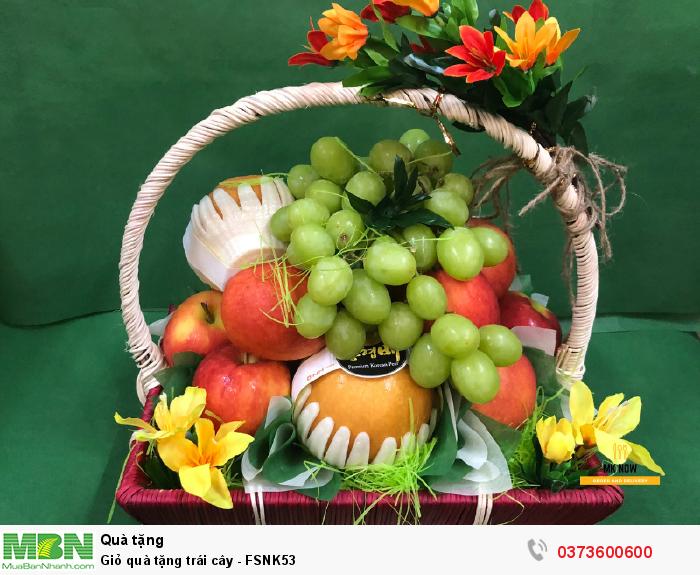 Giỏ trái cây làm quà tặng