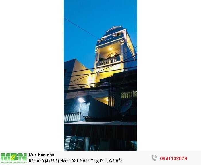 Bán nhà (4x22,5) Hẽm 102 Lê Văn Thọ, P11, Gò Vấp