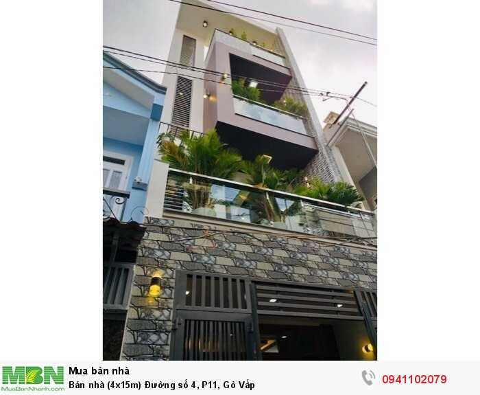 Bán nhà (4x15m) Đường số 4, P11, Gò Vấp