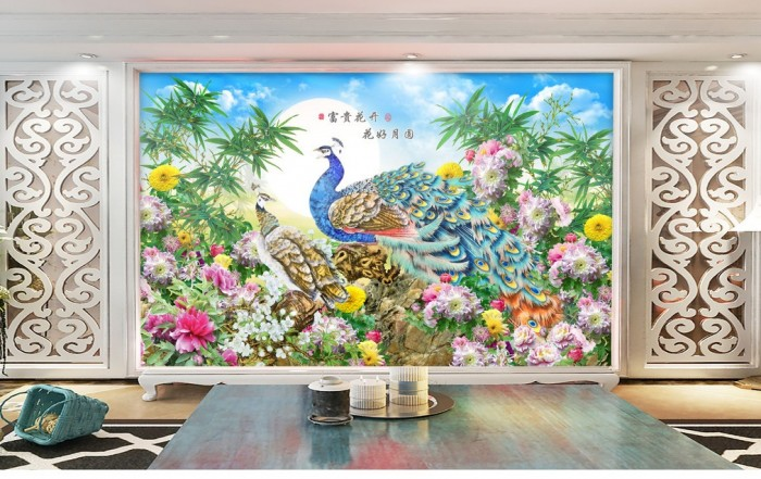 Tranh 3d-tranh trên tường phòng khách3