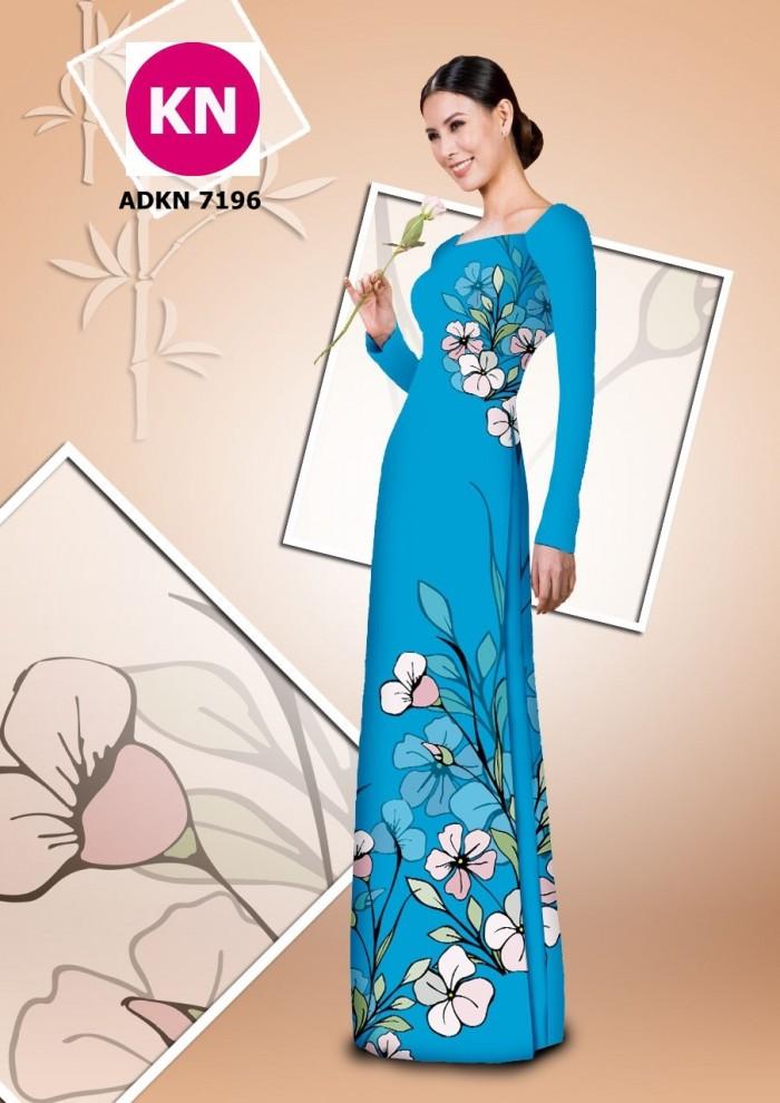 Vải bộ áo dài in đẹp KN7196 (vải áo và vải quần )2