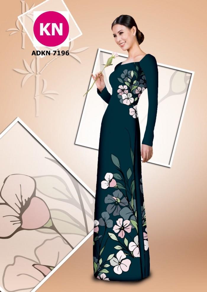 Vải bộ áo dài in đẹp KN7196 (vải áo và vải quần )3