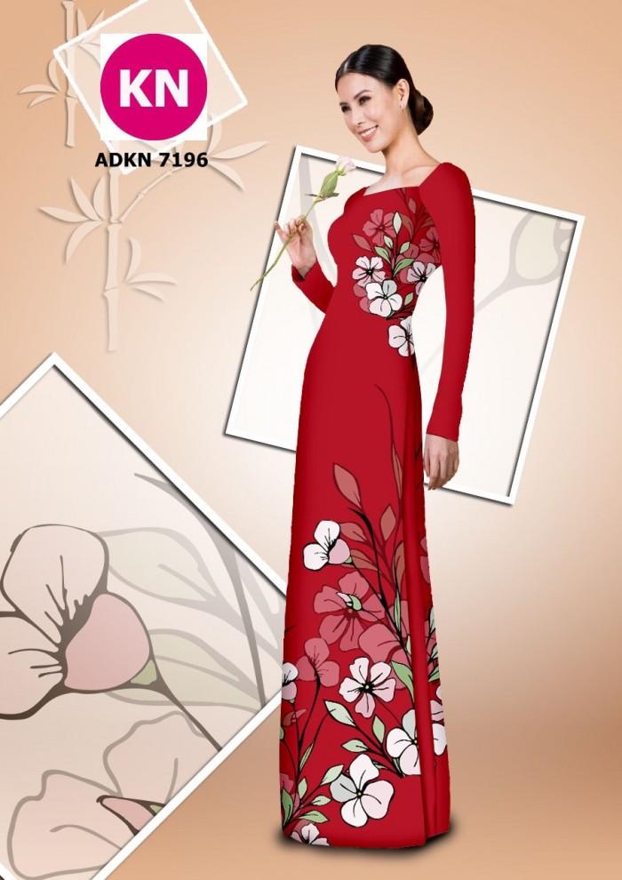 Vải bộ áo dài in đẹp KN7196 (vải áo và vải quần )4