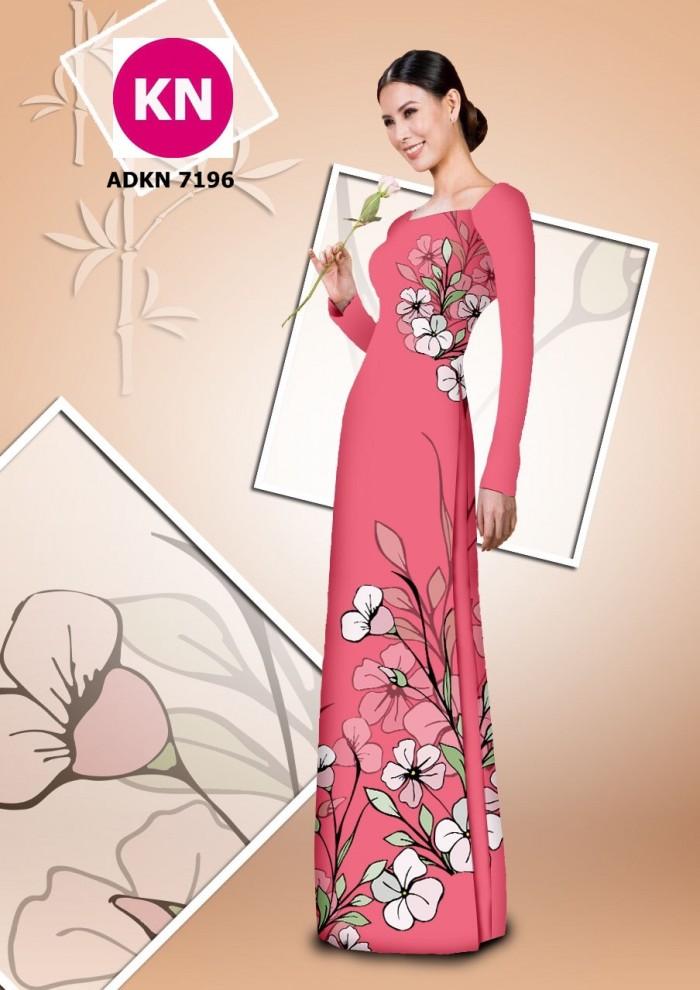 Vải bộ áo dài in đẹp KN7196 (vải áo và vải quần )5
