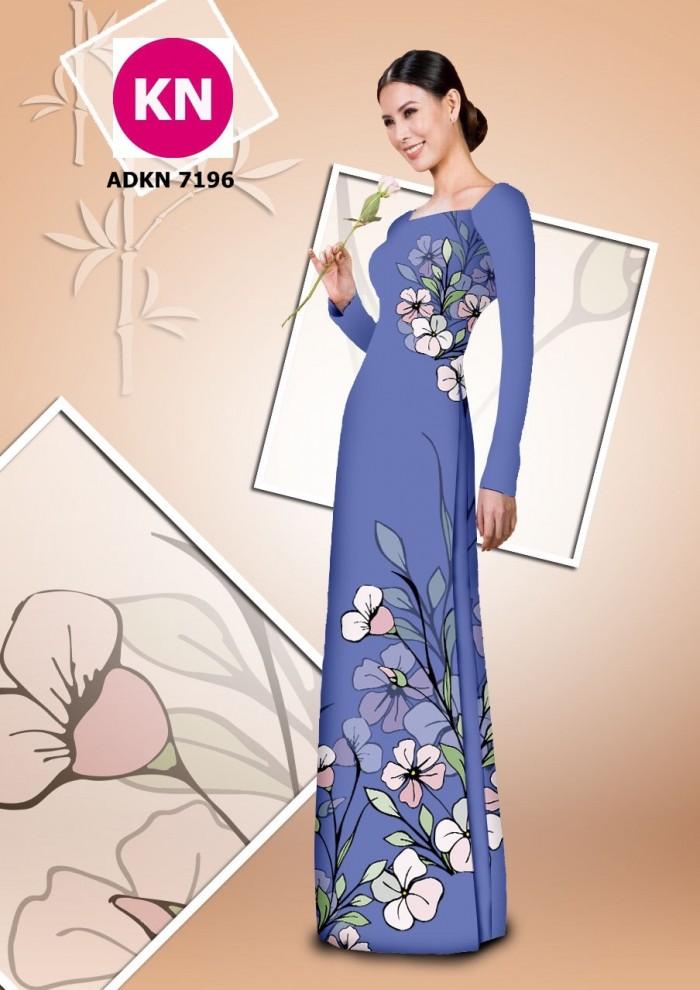 Vải bộ áo dài in đẹp KN7196 (vải áo và vải quần )8