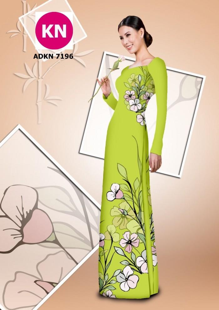 Vải bộ áo dài in đẹp KN7196 (vải áo và vải quần )9