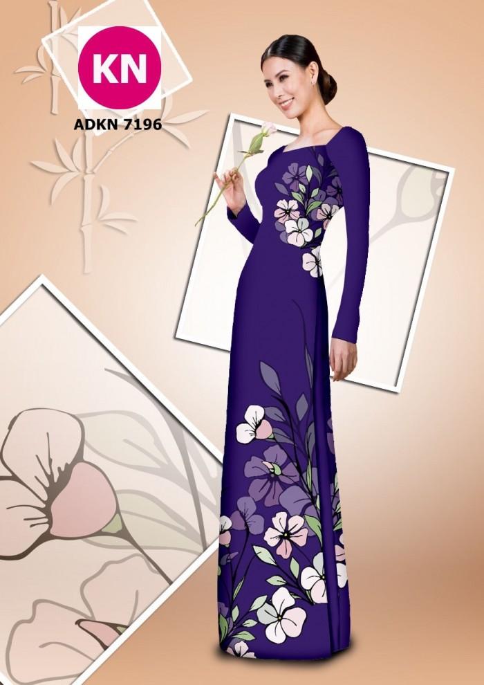 Vải bộ áo dài in đẹp KN7196 (vải áo và vải quần )10