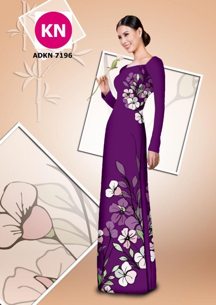 Vải bộ áo dài in đẹp KN7196 (vải áo và vải quần )11