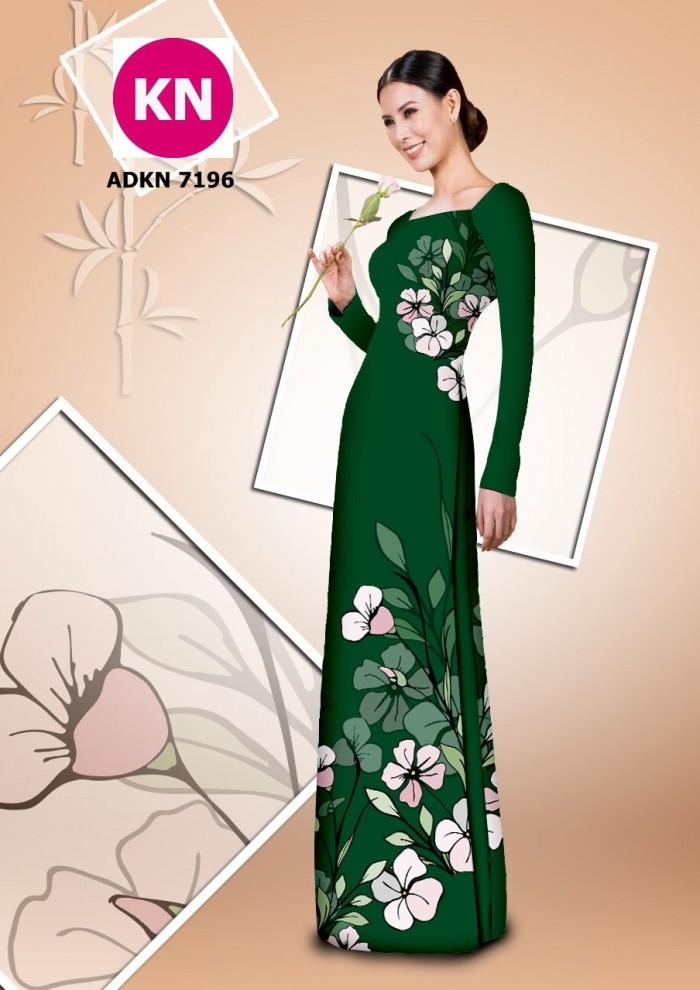 Vải bộ áo dài in đẹp KN7196 (vải áo và vải quần )12